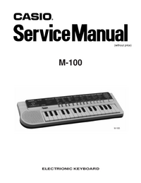 Instrukcja serwisowa Casio M-100