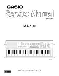 Manual de servicio Casio Ma-100