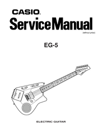 Manual de servicio Casio EG-5