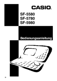 User Manual Casio SF-5580