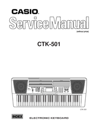 Manuale di servizio Casio CTK-501