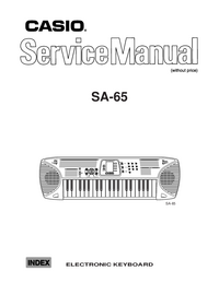 Manual de servicio Casio SA_65