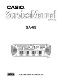 Manuale di servizio Casio SA_65