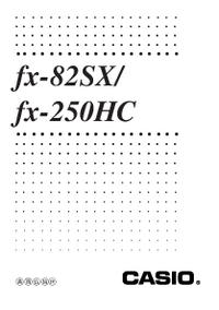 Manuale d'uso Casio fx-82SX/