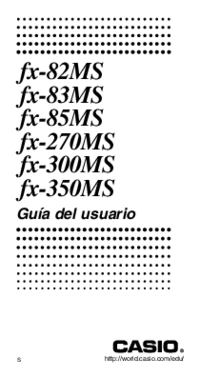 User Manual Casio fx-85MS