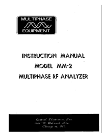 Servicio y Manual del usuario CentralElectronics MM-2