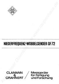 Service and User Manual ClamannGrahnert GF 72