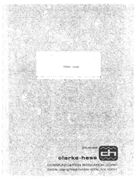 Service and User Manual Clarke_Hesse 6000