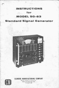 Service and User Manual Clemens SG-83