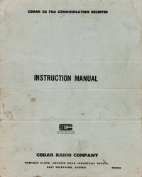 Servicio y Manual del usuario Codar CR 70A