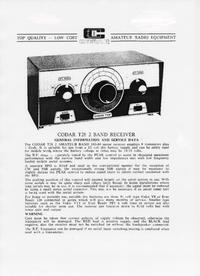 Manual de servicio Codar T 28