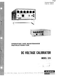 Serviço e Manual do Usuário Cohu 324