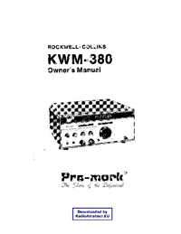 Serwis i User Manual Collins KWM-380