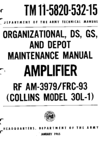 Servicio y Manual del usuario Collins 30L-1