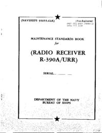 Manual de serviço Collins R-390A/URR