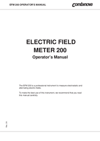 Gebruikershandleiding Combinova EFM 200