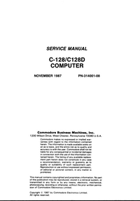 Service Manual Commodore C-128