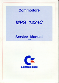 Manual de servicio Commodore MPS 1224C