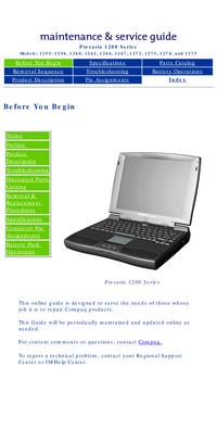 Руководство по техническому обслуживанию Compaq Presario 1255