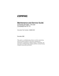 Servicehandboek Compaq Armada 110 and