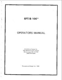 Manual del usuario ComplianceDesign EFT/B-100