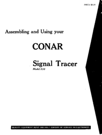 Service and User Manual Conar 230