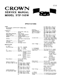 Manual de servicio Crown STP-70SW
