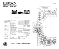 Manual de serviço Crown STP-80