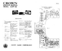 Service Manual Crown STP-80