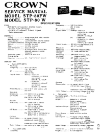 Service Manual Crown STP-80FW
