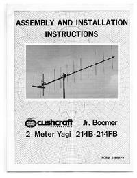 Service and User Manual Cushcraft 214B