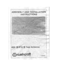 Service and User Manual Cushcraft 410 B