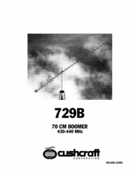 User Manual Cushcraft 729B