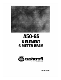 Manual del usuario Cushcraft A50-6S