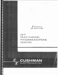 Service and User Manual Cushman CE-7