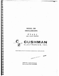 Serwis i User Manual Cushman 301