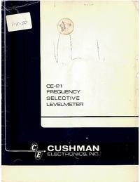 Service et Manuel de l'utilisateur Cushman CE-21