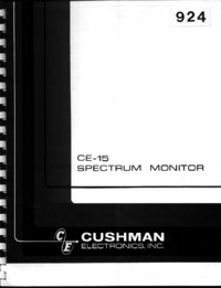 Service and User Manual Cushman CE-15