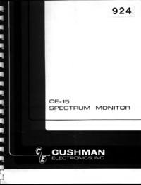 Service- und Bedienungsanleitung Cushman CE-15