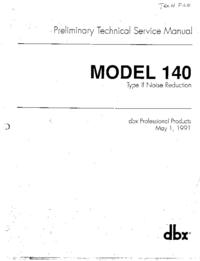 Servicio y Manual del usuario DBX 140
