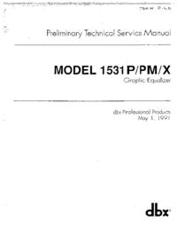 Servizio e manuale utente DBX 1531X