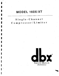 Руководство пользователя DBX 160XT