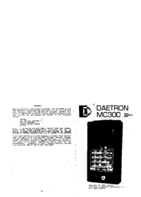 User Manual Daetron MC300