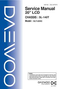 Service Manual Daewoo DLT-20W2