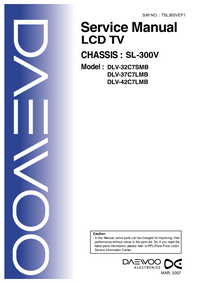 Service Manual Daewoo SL-300V