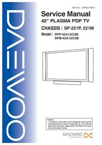 Manual de servicio Daewoo DPP-42A1GCSB