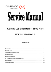 Service Manual Daewoo DPC-8200PD
