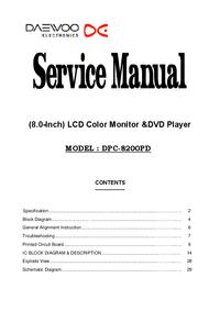 Manual de serviço Daewoo DPC-8200PD