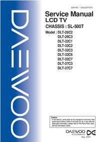 Service Manual Daewoo SL-500T