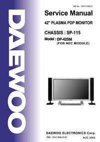 Instrukcja serwisowa Daewoo DP-42SM